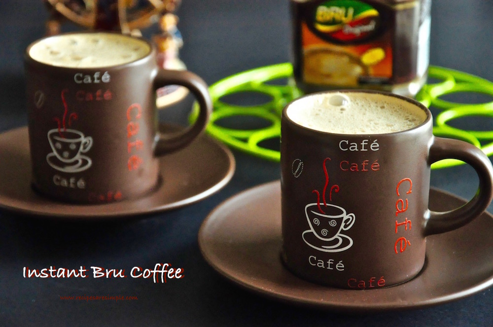 Bru Coffee How To Make Instant Bru Coffee With Video