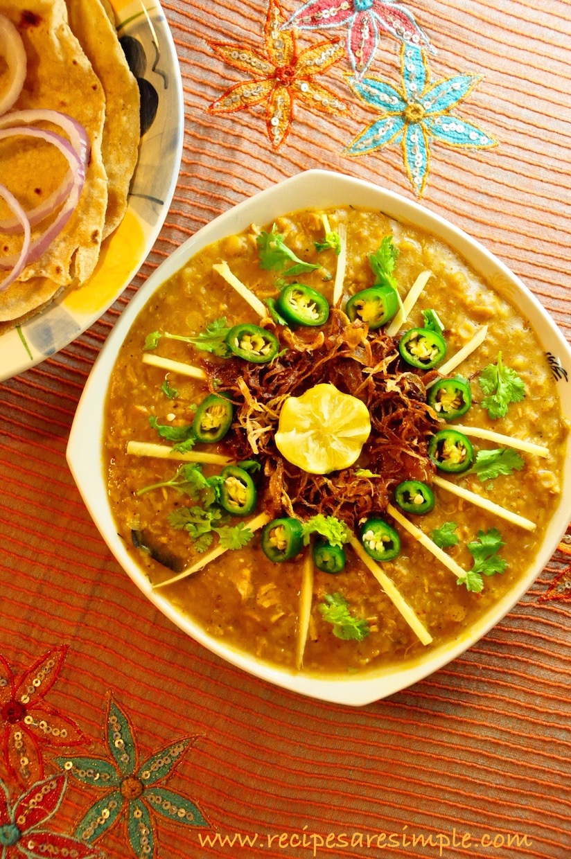 chicken haleem recipe Chicken Haleem Chicken stewed with Dals and Broken Wheat