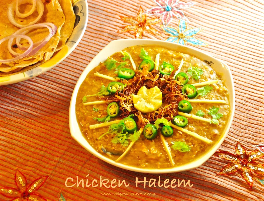 chicken haleem Chicken Haleem Chicken stewed with Dals and Broken Wheat