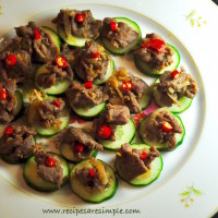 thai beef and cucumber canapes recipes 200x200 Beef & Mutton Recipes