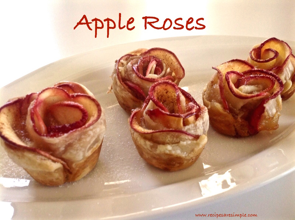 apple roses Apple Roses Quick Dessert with Apple and Puff Pastry