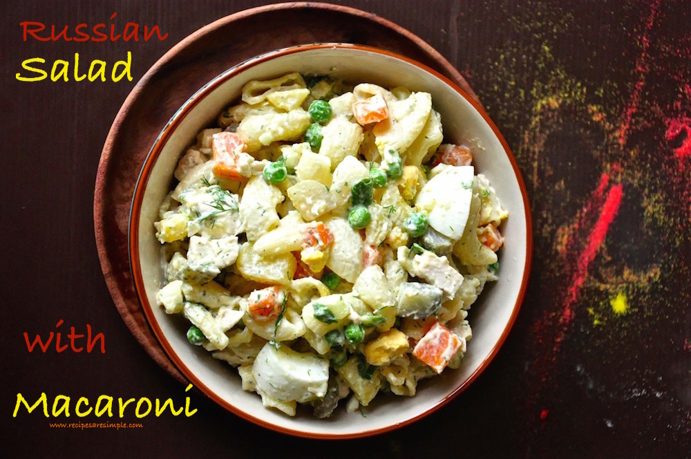 russian salad with macaroni Russian Salad Olivier Salad with Macaroni