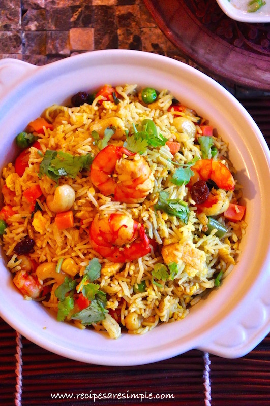 easy pineapple fried rice recipe Easy Pineapple Fried Rice with Prawns