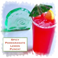 spicy pomegranate lemon punch 200x200 Drinks and Beverages