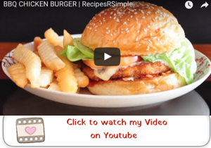 bbq chicken burger youtube video 300x210 Bbq Chicken Burger with Homemade Barbecue Sauce