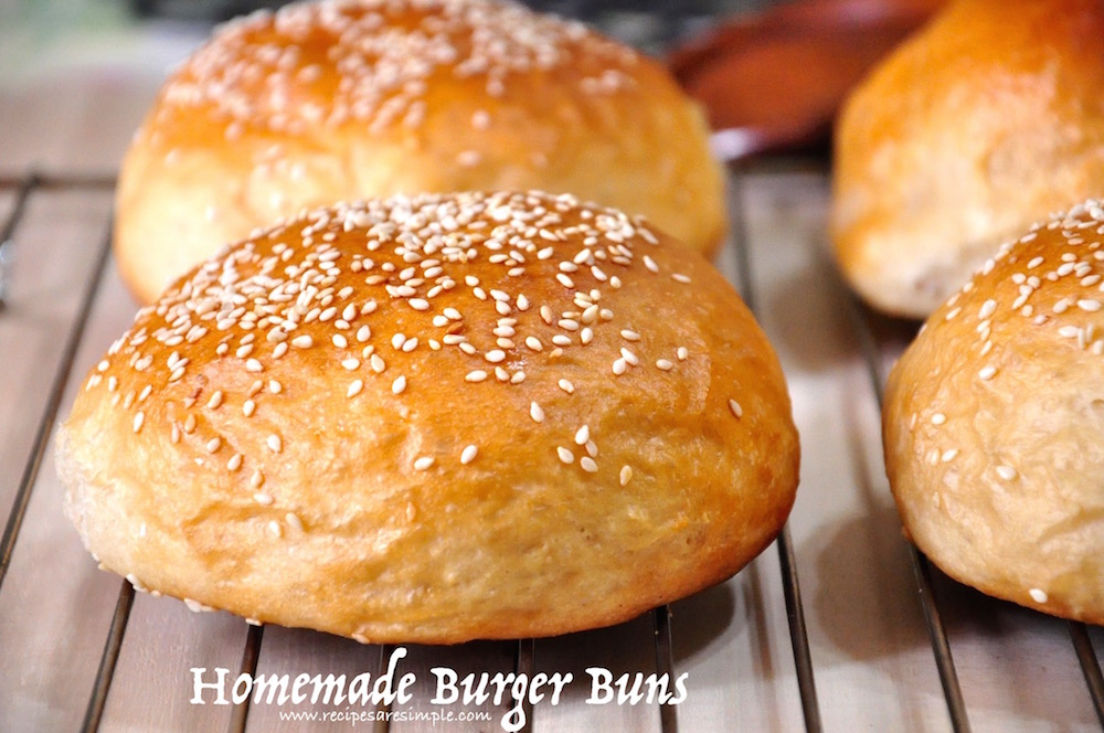 homemade burger buns Homemade Burger Buns