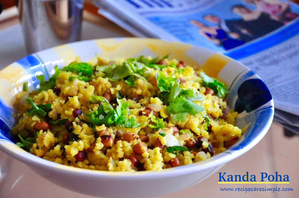 kanda poha Kanda Poha|Quick Indian Breakfast with Pressed Rice