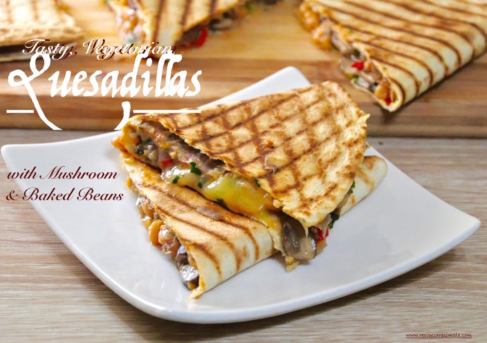 tasty vegetarian quesadillas