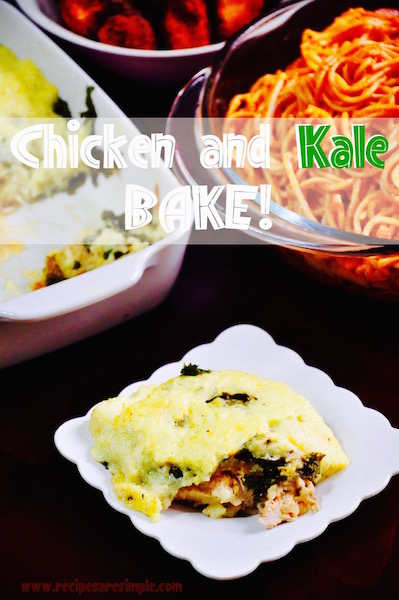 chicken and kale bake Baked Chicken with Kale and Béchamel Sauce
