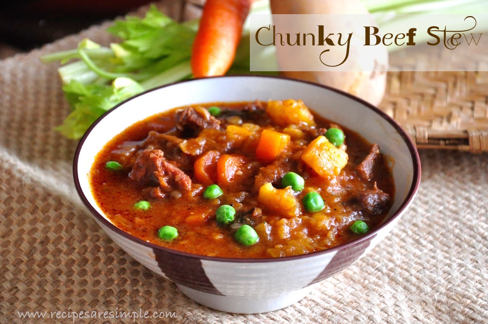 chunky beef stew Chunky Beef Stew| Classic American Comfort