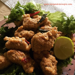 salted egg yolk chicken with lime 300x300 Salted Egg Chicken