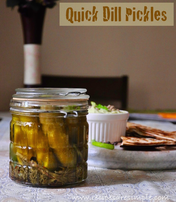 dill pickles Dill Pickles | Easy Homemade Refrigerator Pickles