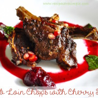 lamb chops with cherry sauce 200x200 Beef & Mutton Recipes