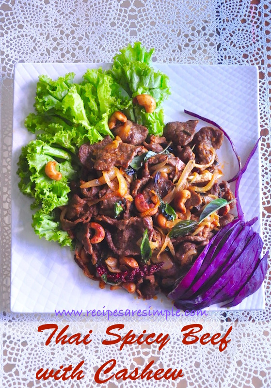 thai spicy beef with cashew nuts Thai Spicy Beef with Cashew Nuts | Quick Stir Fry