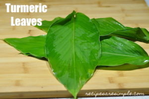 turmeric leaves daun kunyit 300x200 Chicken Rendang | Dry Caramelized Coconut Chicken Curry