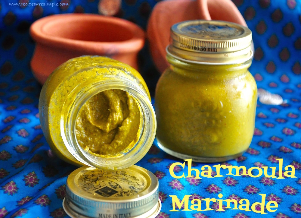 charmoula marinade Charmoula | Coriander Parsley Dressing / Marinade