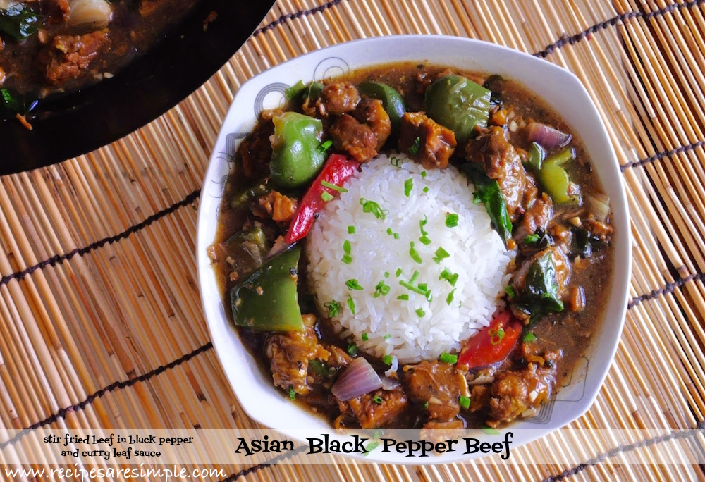 Asian Black Pepper Beef with Curry Leaves