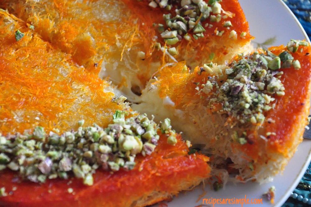 kunafa cheese Kunafa | Middle Eastern Cheese filled Dessert Pastry