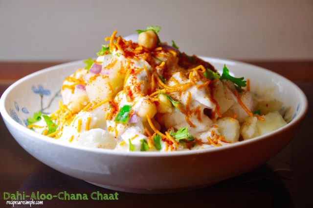 dahi aloo chana chaat