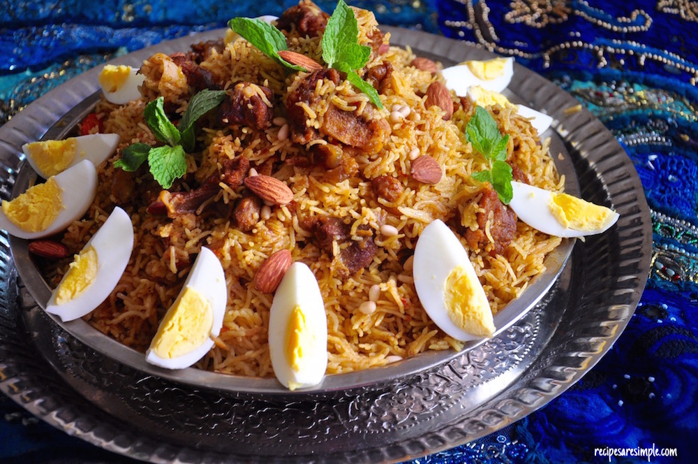 Mutton Kabsa Arabian Rice With Mutton Lamb Recipe And Video